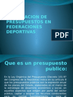 Preparacion de Presupuestos en Federaciones Deportivas En Guatemala