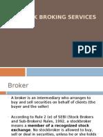 Overview of Stock Broking, Dep, Cust