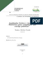 """""""Analizador Léxico y Analizador Sintáctico para compilador  que corrige palabras"""""""