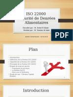 La Norme ISO 22000 Sécurité Des Denrées Alimentaires