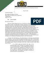 New York State Farm Bureau Letter