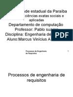 Processos de Engenharia de Requisitos