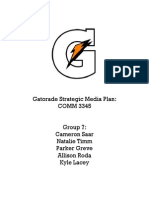 gatorade media plan