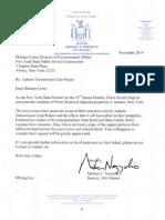 NY Sen. Michael Nozzolio Auburn Transmission