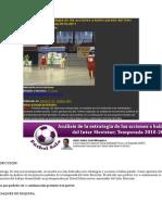 Análisis de La Estrategia de Las Acciones a Balón Parado Del Inter Movistar
