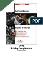 Gagemaker Price List