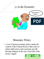 Money and Monetary Policy Spring 2003