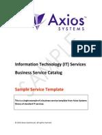 Sample SC Service
