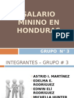 Investigación Del Salario Minino en Honduras
