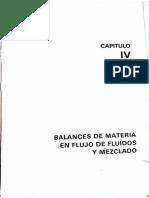 Capitulo 4 Balance de Materia y Energía, Dr. Antonio Valiente
