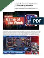 Los mejores nuevos juegos de la semana: Transformers: Tácticas de Batalla y Estrella de la Medianoche