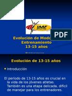 Evolución Modos de Entrenamietno 13-15