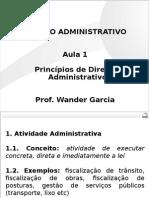 OAB - Administrativo - Aula 01 Princípios de Direito Administrativo I