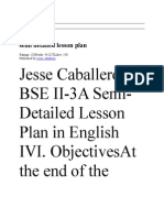 Semi Detailed Lesson Plan