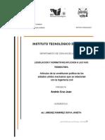 Articulos de La Constitucion Politica de Los Estados Unidos Mexicanos Que Se Relacionan Con La Ingeniería Civil