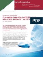 El Cambio Climático Afecta a Los Negocios