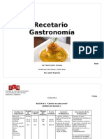 Dossier recetas