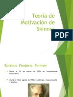 Teoría de Motivación de Skinner (1)