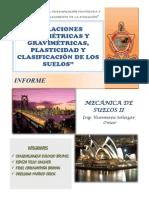"""""""Relaciones Volumétricas y Gravimétricas, Plasticidad y Clasificación de Los Suelos"""""""