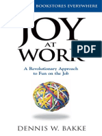Joy at Work by Dennis Bakke (Summary)