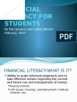 Financial Literacy for Students