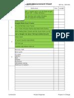 Measurement Sheet 16 RA