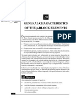 L-20 General Characterstics of the P-Block Elements