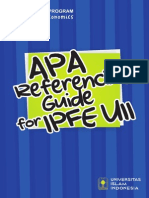 APA Referencing Guide for IPFE UII