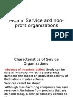 MCS in Service and Non-profit Organizations