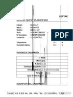 Calibración Balanzas NTC 2031