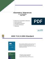 f 5 Geo Tolerances