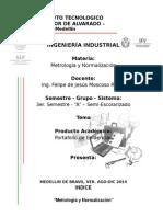 Portafolio de Evidencias Metrologia