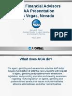 NFLPA Financial Advisors NCAA Presentation Las Vegas,