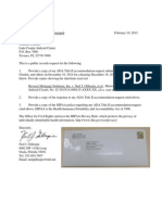Records Request to Grace A. Fagan, Esq Mailed Feb-10-2015