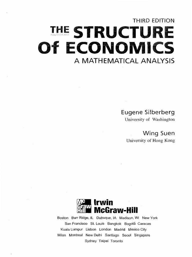 Silberberg the structure of economics 3rd edpdf fandeluxe Choice Image