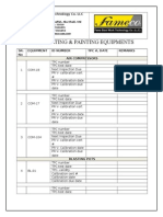 5- Equipment's Master Checklist