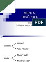 Mental Disorder ( Prof.dr.Joesoef Simbolon, Sp.kj(k) )