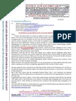20150214-G. H. Schorel-Hlavka O.W.B. to Mr TONY ABBOTT PM-Re Prisoners-Death Penalty Issues