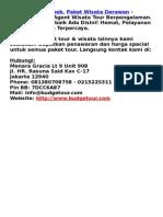 Paket Tour Lombok, Paket Wisata Derawan - Budgetour.com