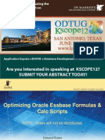 Amit - Optimizing Oracle Essbase Formulas & Calc Scripts