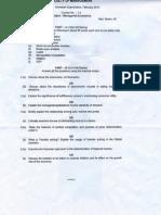 Managerial Economics MBA OU Question Paper