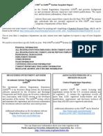 Web CRD® or IARDSM System Snapshot Report