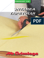 Montarea tapetului