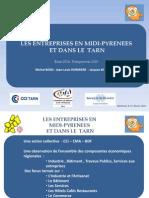 Les entreprises en Midi-Pyrénées et dans la Tarn