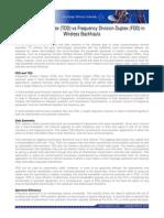 TDD vs FDD in Wireless Backhaul White Paper