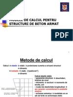 Modele de Calcul Pentru Structuri de Beton Armat Curs 3