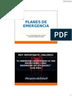 Exposicion Planes de Emergencia