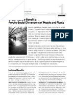 Urban Nature Benefits