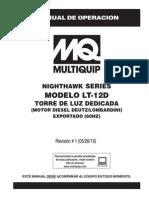 Manual Torre MULTIQUIP, Operación