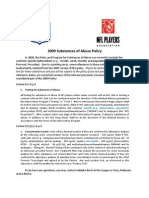 correction to 2009 substances of abuse policy